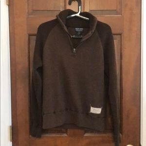 VTG Polo brown quarter zip sweater